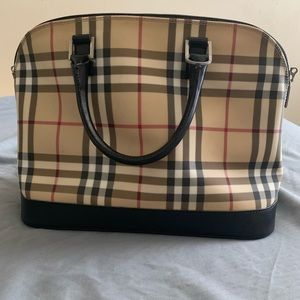 Burberry Bowler Handbag 100% Authentic